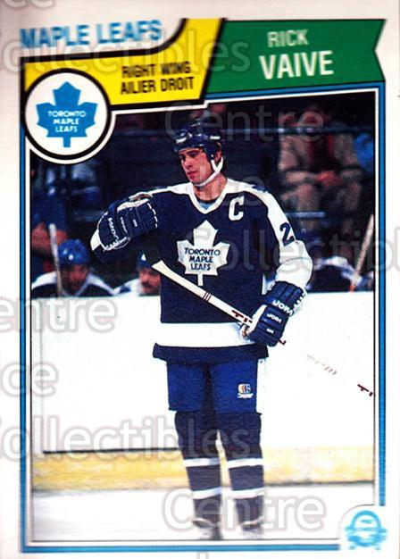 1983-84 O-Pee-Chee #343 Rick Vaive<br/>7 In Stock - $1.00 each - <a href=https://centericecollectibles.foxycart.com/cart?name=1983-84%20O-Pee-Chee%20%23343%20Rick%20Vaive...&quantity_max=7&price=$1.00&code=138174 class=foxycart> Buy it now! </a>