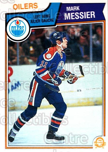 1983-84 O-Pee-Chee #39 Mark Messier<br/>1 In Stock - $5.00 each - <a href=https://centericecollectibles.foxycart.com/cart?name=1983-84%20O-Pee-Chee%20%2339%20Mark%20Messier...&quantity_max=1&price=$5.00&code=138219 class=foxycart> Buy it now! </a>