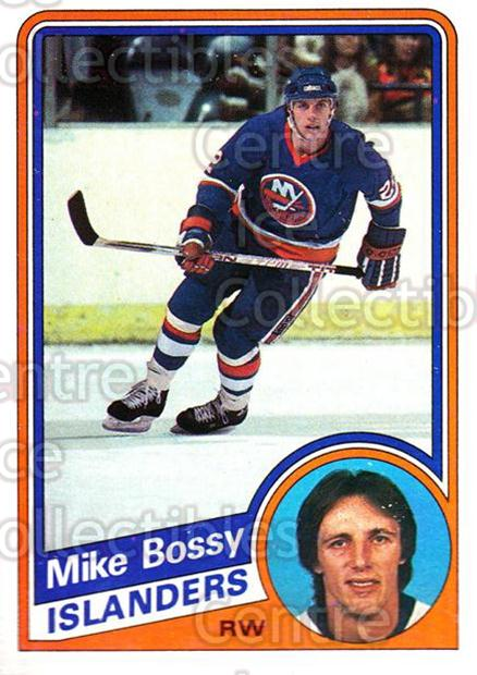 1984-85 Topps #91 Mike Bossy<br/>3 In Stock - $1.00 each - <a href=https://centericecollectibles.foxycart.com/cart?name=1984-85%20Topps%20%2391%20Mike%20Bossy...&price=$1.00&code=138644 class=foxycart> Buy it now! </a>