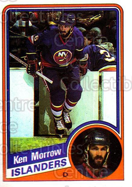 1984-85 Topps #97 Ken Morrow<br/>7 In Stock - $1.00 each - <a href=https://centericecollectibles.foxycart.com/cart?name=1984-85%20Topps%20%2397%20Ken%20Morrow...&quantity_max=7&price=$1.00&code=138649 class=foxycart> Buy it now! </a>