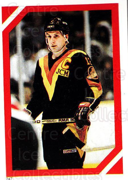 1985-86 O-Pee-Chee Stickers #247-0 Stan Smyl<br/>5 In Stock - $2.00 each - <a href=https://centericecollectibles.foxycart.com/cart?name=1985-86%20O-Pee-Chee%20Stickers%20%23247-0%20Stan%20Smyl...&quantity_max=5&price=$2.00&code=138695 class=foxycart> Buy it now! </a>