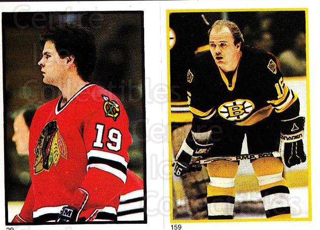 1985-86 O-Pee-Chee Stickers #029-159 Troy Murray, Rick Middleton<br/>9 In Stock - $2.00 each - <a href=https://centericecollectibles.foxycart.com/cart?name=1985-86%20O-Pee-Chee%20Stickers%20%23029-159%20Troy%20Murray,%20Ri...&quantity_max=9&price=$2.00&code=138708 class=foxycart> Buy it now! </a>