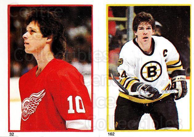 1985-86 O-Pee-Chee Stickers #032-162 Ron Duguay, Terry O'Reilly<br/>5 In Stock - $2.00 each - <a href=https://centericecollectibles.foxycart.com/cart?name=1985-86%20O-Pee-Chee%20Stickers%20%23032-162%20Ron%20Duguay,%20Ter...&quantity_max=5&price=$2.00&code=138711 class=foxycart> Buy it now! </a>