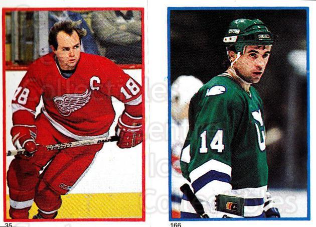 1985-86 O-Pee-Chee Stickers #035-166 Danny Gare, Greg Malone<br/>11 In Stock - $2.00 each - <a href=https://centericecollectibles.foxycart.com/cart?name=1985-86%20O-Pee-Chee%20Stickers%20%23035-166%20Danny%20Gare,%20Gre...&quantity_max=11&price=$2.00&code=138714 class=foxycart> Buy it now! </a>