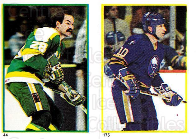 1985-86 O-Pee-Chee Stickers #044-175 Harold Snepsts, Craig Ramsay<br/>7 In Stock - $2.00 each - <a href=https://centericecollectibles.foxycart.com/cart?name=1985-86%20O-Pee-Chee%20Stickers%20%23044-175%20Harold%20Snepsts,...&quantity_max=7&price=$2.00&code=138724 class=foxycart> Buy it now! </a>