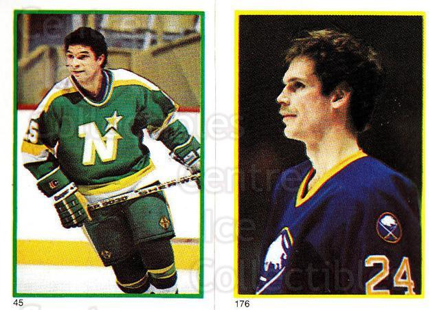1985-86 O-Pee-Chee Stickers #045-176 Tony McKegney, Bill Hajt<br/>9 In Stock - $2.00 each - <a href=https://centericecollectibles.foxycart.com/cart?name=1985-86%20O-Pee-Chee%20Stickers%20%23045-176%20Tony%20McKegney,%20...&quantity_max=9&price=$2.00&code=138725 class=foxycart> Buy it now! </a>