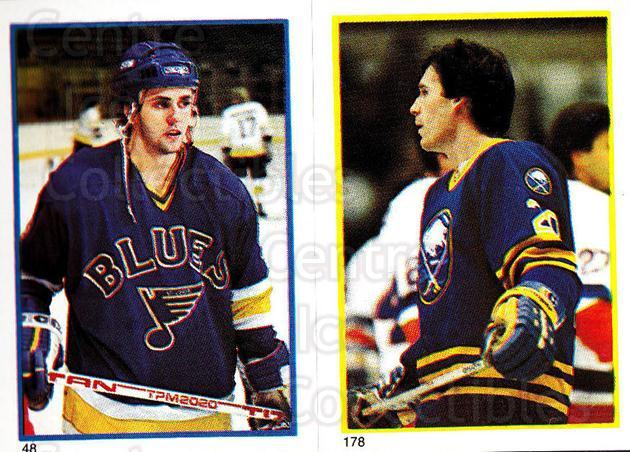 1985-86 O-Pee-Chee Stickers #048-178 Doug Gilmour, Brent Peterson<br/>2 In Stock - $3.00 each - <a href=https://centericecollectibles.foxycart.com/cart?name=1985-86%20O-Pee-Chee%20Stickers%20%23048-178%20Doug%20Gilmour,%20B...&quantity_max=2&price=$3.00&code=138728 class=foxycart> Buy it now! </a>