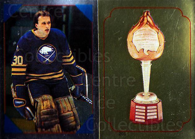 1985-86 O-Pee-Chee Stickers #055-203 Tom Barrasso, Hart Trophy<br/>9 In Stock - $2.00 each - <a href=https://centericecollectibles.foxycart.com/cart?name=1985-86%20O-Pee-Chee%20Stickers%20%23055-203%20Tom%20Barrasso,%20H...&quantity_max=9&price=$2.00&code=138734 class=foxycart> Buy it now! </a>