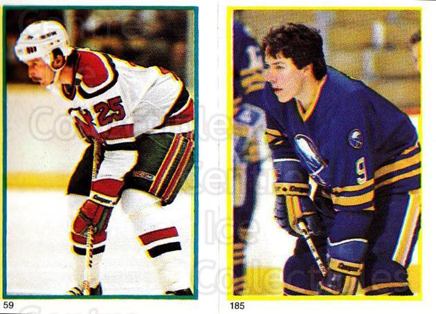 1985-86 O-Pee-Chee Stickers #059-185 Dave Lewis, Gilles Hamel<br/>9 In Stock - $2.00 each - <a href=https://centericecollectibles.foxycart.com/cart?name=1985-86%20O-Pee-Chee%20Stickers%20%23059-185%20Dave%20Lewis,%20Gil...&quantity_max=9&price=$2.00&code=138738 class=foxycart> Buy it now! </a>