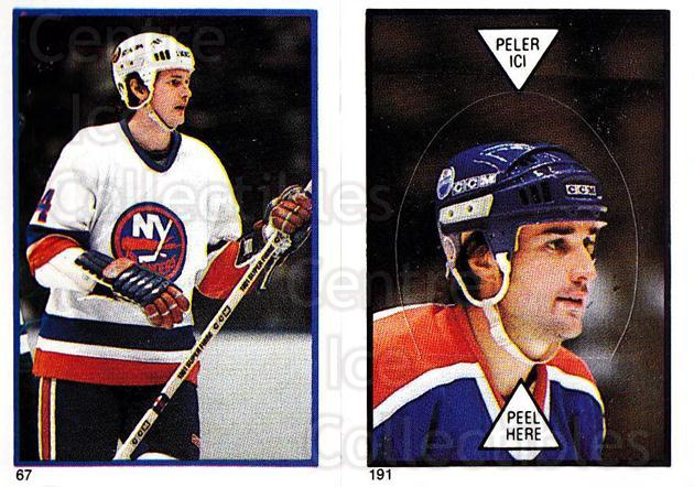 1985-86 O-Pee-Chee Stickers #067-191 Bob Bourne, Paul Coffey<br/>6 In Stock - $2.00 each - <a href=https://centericecollectibles.foxycart.com/cart?name=1985-86%20O-Pee-Chee%20Stickers%20%23067-191%20Bob%20Bourne,%20Pau...&quantity_max=6&price=$2.00&code=138746 class=foxycart> Buy it now! </a>