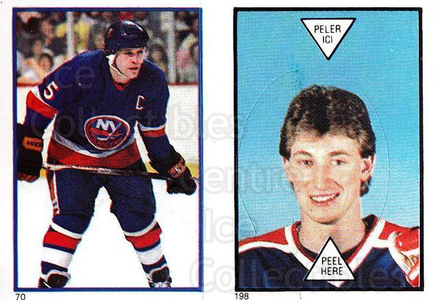 1985-86 O-Pee-Chee Stickers #070-198 Denis Potvin, Wayne Gretzky<br/>1 In Stock - $10.00 each - <a href=https://centericecollectibles.foxycart.com/cart?name=1985-86%20O-Pee-Chee%20Stickers%20%23070-198%20Denis%20Potvin,%20W...&quantity_max=1&price=$10.00&code=138750 class=foxycart> Buy it now! </a>