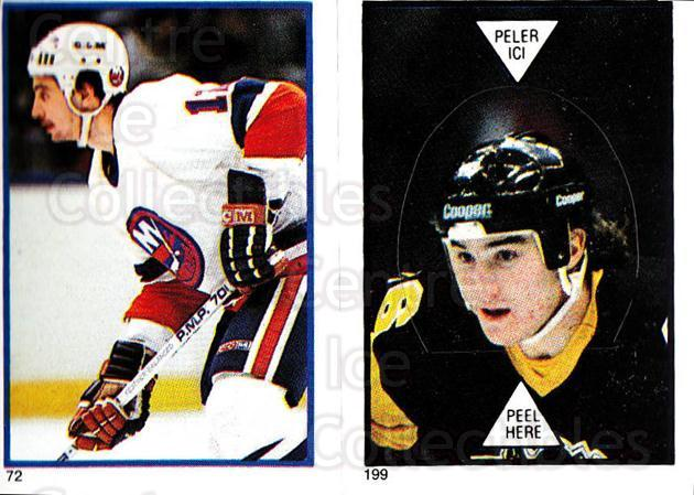 1985-86 O-Pee-Chee Stickers #072-199 Duane Sutter, Mario Lemieux<br/>1 In Stock - $25.00 each - <a href=https://centericecollectibles.foxycart.com/cart?name=1985-86%20O-Pee-Chee%20Stickers%20%23072-199%20Duane%20Sutter,%20M...&quantity_max=1&price=$25.00&code=138752 class=foxycart> Buy it now! </a>