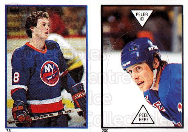 1985-86 O-Pee-Chee Stickers #073-200 Pat Flatley, Anders Hedberg<br/>8 In Stock - $2.00 each - <a href=https://centericecollectibles.foxycart.com/cart?name=1985-86%20O-Pee-Chee%20Stickers%20%23073-200%20Pat%20Flatley,%20An...&quantity_max=8&price=$2.00&code=138753 class=foxycart> Buy it now! </a>