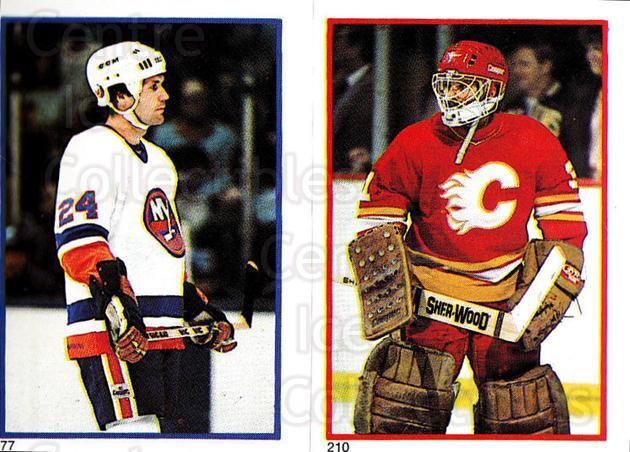 1985-86 O-Pee-Chee Stickers #077-210 Gordie Lane, Rejean Lemelin<br/>9 In Stock - $2.00 each - <a href=https://centericecollectibles.foxycart.com/cart?name=1985-86%20O-Pee-Chee%20Stickers%20%23077-210%20Gordie%20Lane,%20Re...&quantity_max=9&price=$2.00&code=138756 class=foxycart> Buy it now! </a>