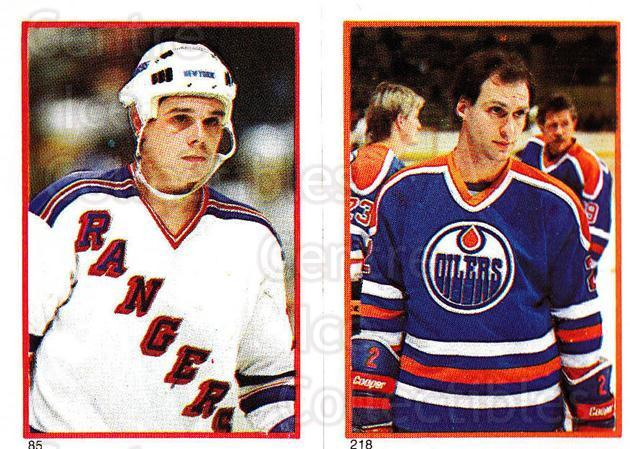 1985-86 O-Pee-Chee Stickers #085-218 Pierre Larouche, Lee Fogolin<br/>9 In Stock - $2.00 each - <a href=https://centericecollectibles.foxycart.com/cart?name=1985-86%20O-Pee-Chee%20Stickers%20%23085-218%20Pierre%20Larouche...&quantity_max=9&price=$2.00&code=138764 class=foxycart> Buy it now! </a>