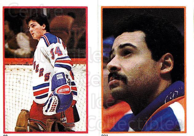 1985-86 O-Pee-Chee Stickers #088-221 John Vanbiesbrouck, Grant Fuhr<br/>1 In Stock - $5.00 each - <a href=https://centericecollectibles.foxycart.com/cart?name=1985-86%20O-Pee-Chee%20Stickers%20%23088-221%20John%20Vanbiesbro...&quantity_max=1&price=$5.00&code=138767 class=foxycart> Buy it now! </a>