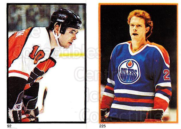 1985-86 O-Pee-Chee Stickers #092-225 Brad McCrimmon, Randy Gregg<br/>4 In Stock - $2.00 each - <a href=https://centericecollectibles.foxycart.com/cart?name=1985-86%20O-Pee-Chee%20Stickers%20%23092-225%20Brad%20McCrimmon,...&quantity_max=4&price=$2.00&code=138771 class=foxycart> Buy it now! </a>