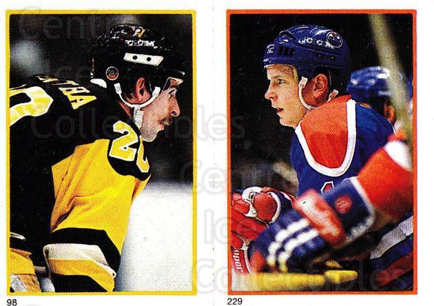 1985-86 O-Pee-Chee Stickers #098-229 Moe Mantha, Pat Hughes<br/>7 In Stock - $2.00 each - <a href=https://centericecollectibles.foxycart.com/cart?name=1985-86%20O-Pee-Chee%20Stickers%20%23098-229%20Moe%20Mantha,%20Pat...&quantity_max=7&price=$2.00&code=138776 class=foxycart> Buy it now! </a>