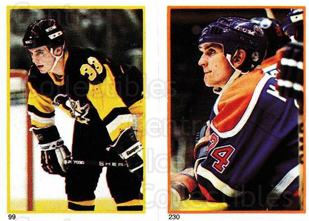 1985-86 O-Pee-Chee Stickers #099-230 Doug Bodger, Kevin McClelland<br/>9 In Stock - $2.00 each - <a href=https://centericecollectibles.foxycart.com/cart?name=1985-86%20O-Pee-Chee%20Stickers%20%23099-230%20Doug%20Bodger,%20Ke...&quantity_max=9&price=$2.00&code=138777 class=foxycart> Buy it now! </a>