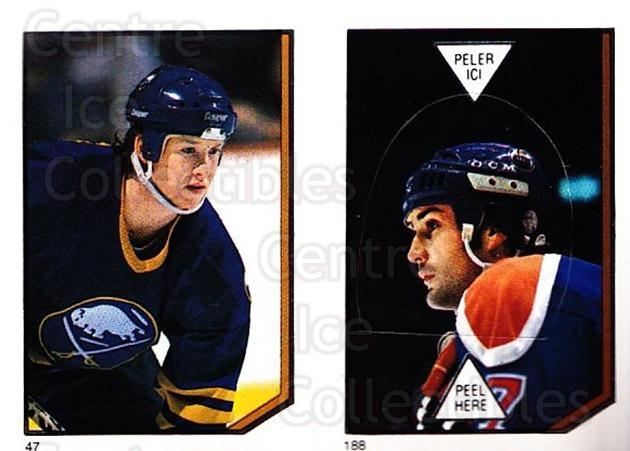 1986-87 O-Pee-Chee Stickers #047-188 Phil Housley, Paul Coffey<br/>1 In Stock - $3.00 each - <a href=https://centericecollectibles.foxycart.com/cart?name=1986-87%20O-Pee-Chee%20Stickers%20%23047-188%20Phil%20Housley,%20P...&quantity_max=1&price=$3.00&code=138822 class=foxycart> Buy it now! </a>