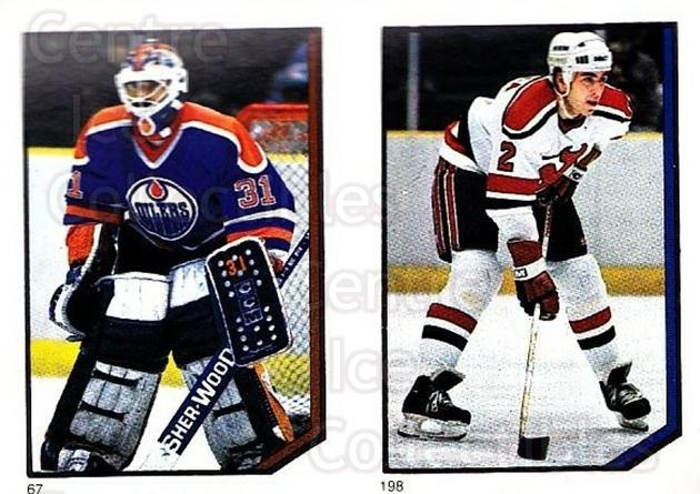 1986-87 O-Pee-Chee Stickers #067-198 Grant Fuhr, Joe Cirella<br/>1 In Stock - $3.00 each - <a href=https://centericecollectibles.foxycart.com/cart?name=1986-87%20O-Pee-Chee%20Stickers%20%23067-198%20Grant%20Fuhr,%20Joe...&quantity_max=1&price=$3.00&code=138826 class=foxycart> Buy it now! </a>