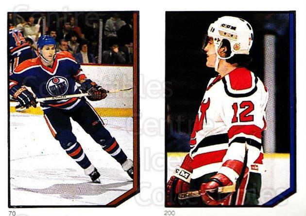 1986-87 O-Pee-Chee Stickers #070-200 Kevin Lowe, Mark Johnson<br/>4 In Stock - $2.00 each - <a href=https://centericecollectibles.foxycart.com/cart?name=1986-87%20O-Pee-Chee%20Stickers%20%23070-200%20Kevin%20Lowe,%20Mar...&quantity_max=4&price=$2.00&code=138843 class=foxycart> Buy it now! </a>