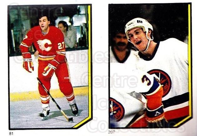 1986-87 O-Pee-Chee Stickers #081-207 John Tonelli, Pat Flatley<br/>6 In Stock - $2.00 each - <a href=https://centericecollectibles.foxycart.com/cart?name=1986-87%20O-Pee-Chee%20Stickers%20%23081-207%20John%20Tonelli,%20P...&quantity_max=6&price=$2.00&code=138853 class=foxycart> Buy it now! </a>