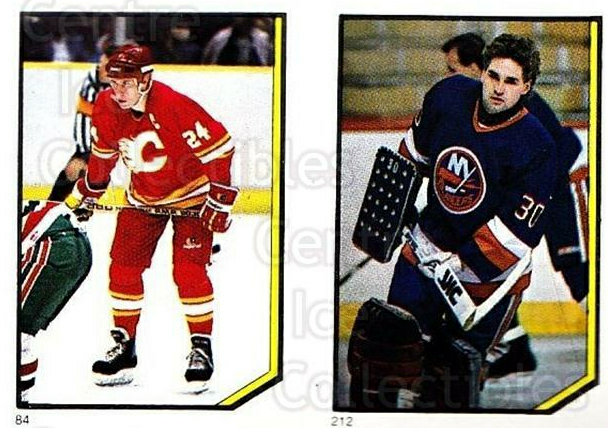 1986-87 O-Pee-Chee Stickers #084-212 Jim Peplinski, Kelly Hrudey<br/>6 In Stock - $2.00 each - <a href=https://centericecollectibles.foxycart.com/cart?name=1986-87%20O-Pee-Chee%20Stickers%20%23084-212%20Jim%20Peplinski,%20...&quantity_max=6&price=$2.00&code=138856 class=foxycart> Buy it now! </a>
