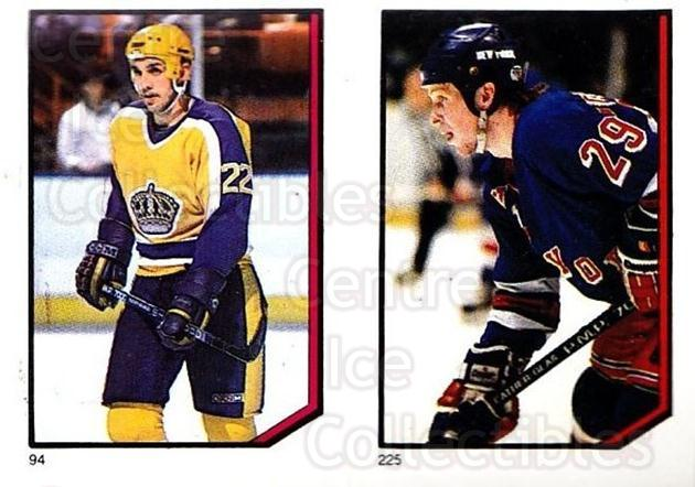 1986-87 O-Pee-Chee Stickers #094-225 Dave Williams, Reijo Ruotsalainen<br/>1 In Stock - $2.00 each - <a href=https://centericecollectibles.foxycart.com/cart?name=1986-87%20O-Pee-Chee%20Stickers%20%23094-225%20Dave%20Williams,%20...&quantity_max=1&price=$2.00&code=138867 class=foxycart> Buy it now! </a>