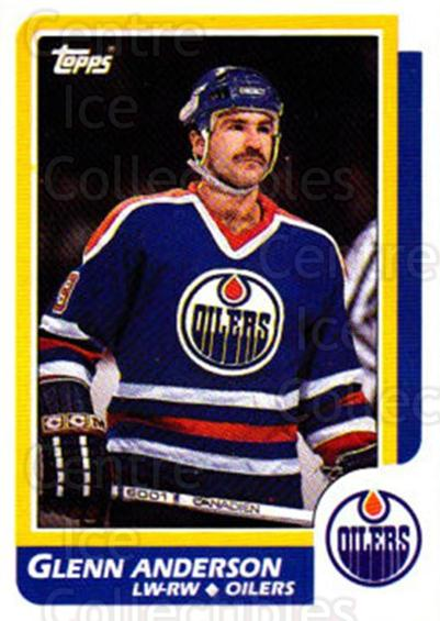 1986-87 Topps #80 Glenn Anderson<br/>3 In Stock - $1.00 each - <a href=https://centericecollectibles.foxycart.com/cart?name=1986-87%20Topps%20%2380%20Glenn%20Anderson...&quantity_max=3&price=$1.00&code=138889 class=foxycart> Buy it now! </a>