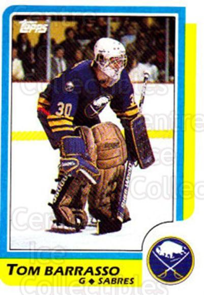 1986-87 Topps #91 Tom Barrasso<br/>5 In Stock - $1.00 each - <a href=https://centericecollectibles.foxycart.com/cart?name=1986-87%20Topps%20%2391%20Tom%20Barrasso...&quantity_max=5&price=$1.00&code=138900 class=foxycart> Buy it now! </a>