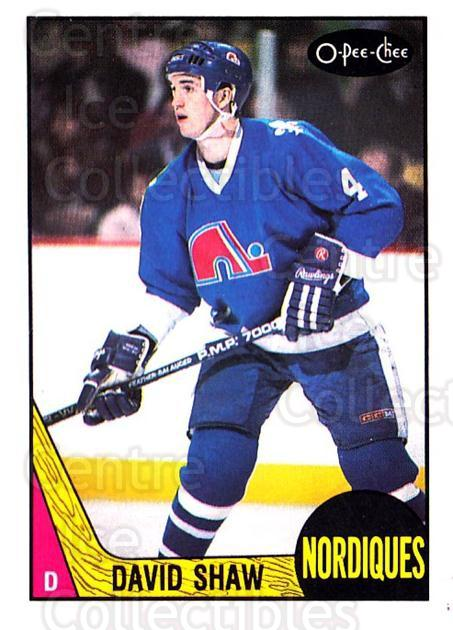 1987-88 O-Pee-Chee #252 David Shaw<br/>8 In Stock - $1.00 each - <a href=https://centericecollectibles.foxycart.com/cart?name=1987-88%20O-Pee-Chee%20%23252%20David%20Shaw...&quantity_max=8&price=$1.00&code=138914 class=foxycart> Buy it now! </a>