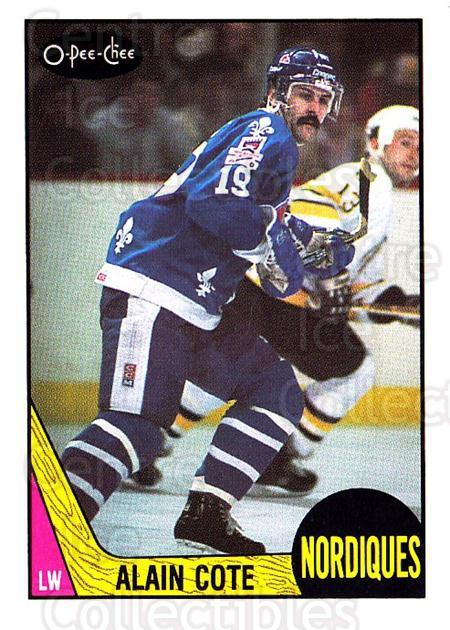 1987-88 O-Pee-Chee #254 Alain Cote<br/>7 In Stock - $1.00 each - <a href=https://centericecollectibles.foxycart.com/cart?name=1987-88%20O-Pee-Chee%20%23254%20Alain%20Cote...&quantity_max=7&price=$1.00&code=138916 class=foxycart> Buy it now! </a>