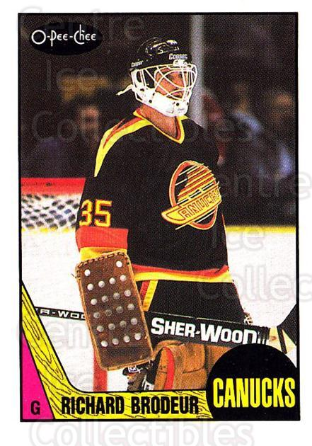 1987-88 O-Pee-Chee #257 Richard Brodeur<br/>3 In Stock - $1.00 each - <a href=https://centericecollectibles.foxycart.com/cart?name=1987-88%20O-Pee-Chee%20%23257%20Richard%20Brodeur...&quantity_max=3&price=$1.00&code=138919 class=foxycart> Buy it now! </a>