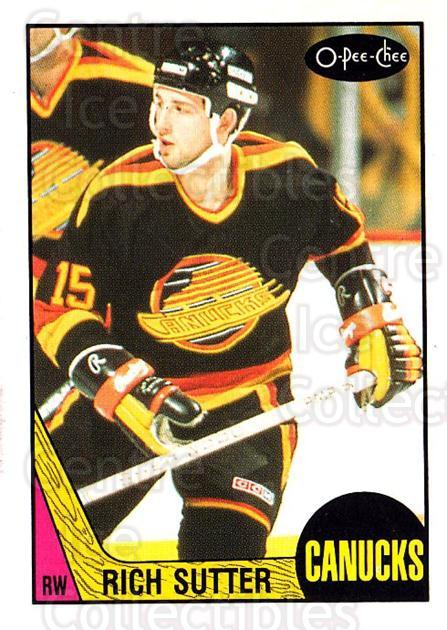 1987-88 O-Pee-Chee #258 Rich Sutter<br/>8 In Stock - $1.00 each - <a href=https://centericecollectibles.foxycart.com/cart?name=1987-88%20O-Pee-Chee%20%23258%20Rich%20Sutter...&quantity_max=8&price=$1.00&code=138920 class=foxycart> Buy it now! </a>