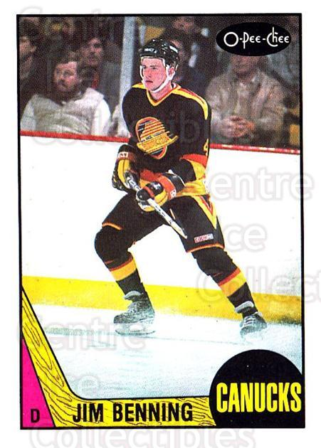 1987-88 O-Pee-Chee #260 Jim Benning<br/>8 In Stock - $1.00 each - <a href=https://centericecollectibles.foxycart.com/cart?name=1987-88%20O-Pee-Chee%20%23260%20Jim%20Benning...&quantity_max=8&price=$1.00&code=138923 class=foxycart> Buy it now! </a>