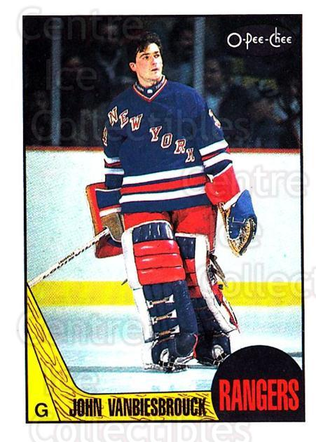 1987-88 O-Pee-Chee #36 John Vanbiesbrouck<br/>1 In Stock - $3.00 each - <a href=https://centericecollectibles.foxycart.com/cart?name=1987-88%20O-Pee-Chee%20%2336%20John%20Vanbiesbro...&quantity_max=1&price=$3.00&code=138938 class=foxycart> Buy it now! </a>