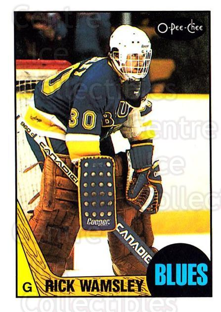 1987-88 O-Pee-Chee #65 Rick Wamsley<br/>6 In Stock - $1.00 each - <a href=https://centericecollectibles.foxycart.com/cart?name=1987-88%20O-Pee-Chee%20%2365%20Rick%20Wamsley...&quantity_max=6&price=$1.00&code=138967 class=foxycart> Buy it now! </a>