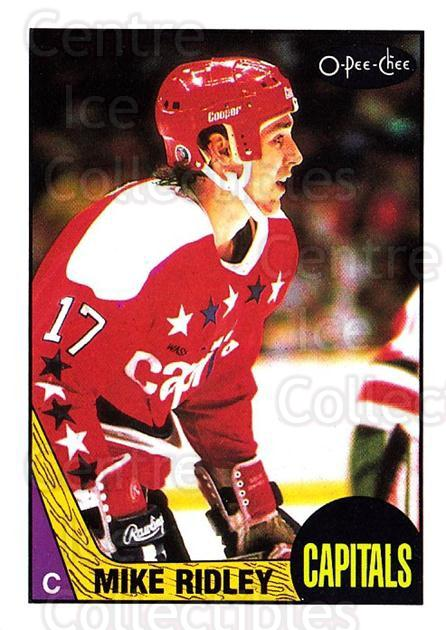 1987-88 O-Pee-Chee #8 Mike Ridley<br/>8 In Stock - $1.00 each - <a href=https://centericecollectibles.foxycart.com/cart?name=1987-88%20O-Pee-Chee%20%238%20Mike%20Ridley...&quantity_max=8&price=$1.00&code=138981 class=foxycart> Buy it now! </a>
