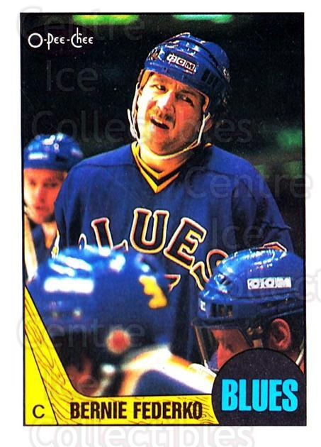 1987-88 O-Pee-Chee #83 Bernie Federko<br/>7 In Stock - $1.00 each - <a href=https://centericecollectibles.foxycart.com/cart?name=1987-88%20O-Pee-Chee%20%2383%20Bernie%20Federko...&quantity_max=7&price=$1.00&code=138985 class=foxycart> Buy it now! </a>