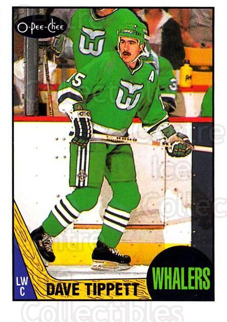 1987-88 O-Pee-Chee #86 Dave Tippett<br/>7 In Stock - $1.00 each - <a href=https://centericecollectibles.foxycart.com/cart?name=1987-88%20O-Pee-Chee%20%2386%20Dave%20Tippett...&quantity_max=7&price=$1.00&code=138988 class=foxycart> Buy it now! </a>