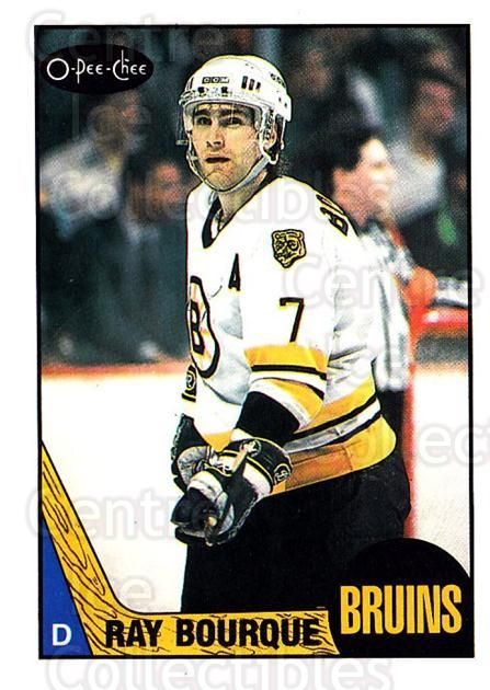 1987-88 O-Pee-Chee #87 Ray Bourque<br/>1 In Stock - $3.00 each - <a href=https://centericecollectibles.foxycart.com/cart?name=1987-88%20O-Pee-Chee%20%2387%20Ray%20Bourque...&quantity_max=1&price=$3.00&code=138989 class=foxycart> Buy it now! </a>