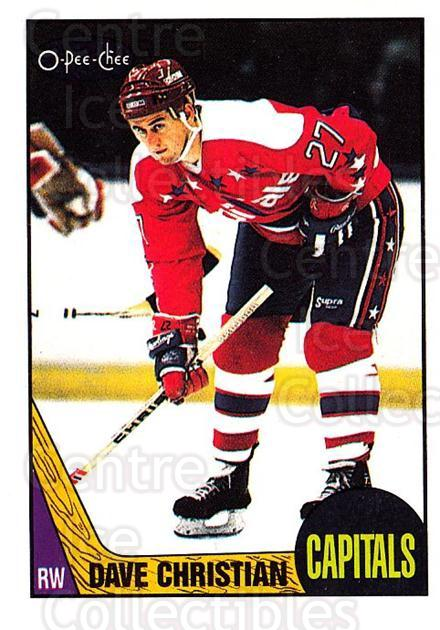 1987-88 O-Pee-Chee #88 Dave Christian<br/>9 In Stock - $1.00 each - <a href=https://centericecollectibles.foxycart.com/cart?name=1987-88%20O-Pee-Chee%20%2388%20Dave%20Christian...&quantity_max=9&price=$1.00&code=138990 class=foxycart> Buy it now! </a>