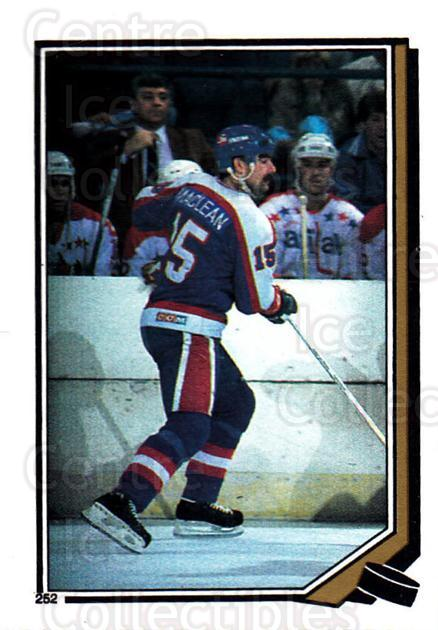 1987-88 O-Pee-Chee Stickers #252-0 Paul MacLean<br/>7 In Stock - $2.00 each - <a href=https://centericecollectibles.foxycart.com/cart?name=1987-88%20O-Pee-Chee%20Stickers%20%23252-0%20Paul%20MacLean...&quantity_max=7&price=$2.00&code=139010 class=foxycart> Buy it now! </a>