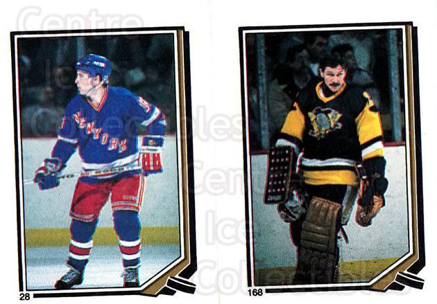 1987-88 O-Pee-Chee Stickers #028-168 Kelly Kisio, Gilles Meloche<br/>10 In Stock - $2.00 each - <a href=https://centericecollectibles.foxycart.com/cart?name=1987-88%20O-Pee-Chee%20Stickers%20%23028-168%20Kelly%20Kisio,%20Gi...&quantity_max=10&price=$2.00&code=139016 class=foxycart> Buy it now! </a>