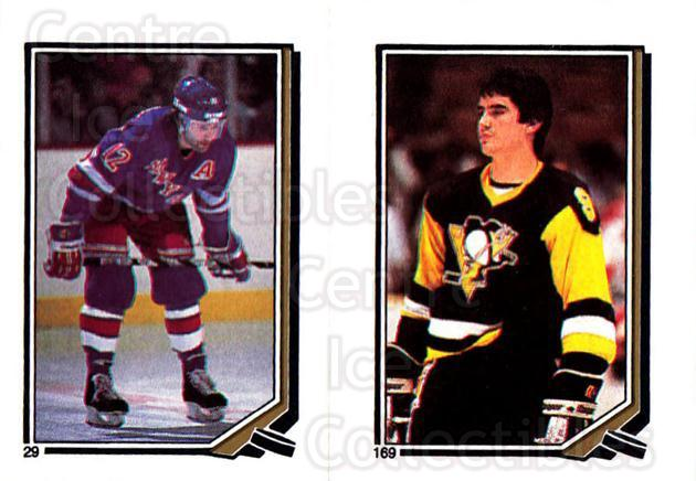 1987-88 O-Pee-Chee Stickers #029-169 Don Maloney, John Chabot<br/>10 In Stock - $2.00 each - <a href=https://centericecollectibles.foxycart.com/cart?name=1987-88%20O-Pee-Chee%20Stickers%20%23029-169%20Don%20Maloney,%20Jo...&quantity_max=10&price=$2.00&code=139017 class=foxycart> Buy it now! </a>