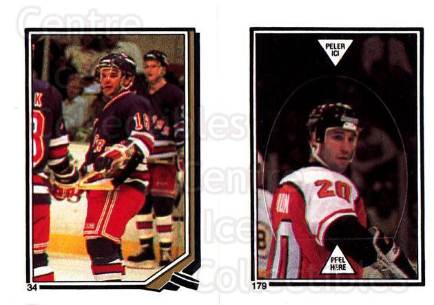 1987-88 O-Pee-Chee Stickers #034-179 Marcel Dionne, Dave Poulin<br/>2 In Stock - $2.00 each - <a href=https://centericecollectibles.foxycart.com/cart?name=1987-88%20O-Pee-Chee%20Stickers%20%23034-179%20Marcel%20Dionne,%20...&quantity_max=2&price=$2.00&code=139023 class=foxycart> Buy it now! </a>