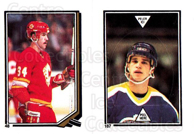 1987-88 O-Pee-Chee Stickers #048-187 Jamie Macoun, Luc Robitaille<br/>11 In Stock - $2.00 each - <a href=https://centericecollectibles.foxycart.com/cart?name=1987-88%20O-Pee-Chee%20Stickers%20%23048-187%20Jamie%20Macoun,%20L...&quantity_max=11&price=$2.00&code=139035 class=foxycart> Buy it now! </a>