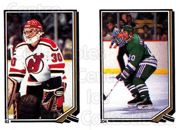 1987-88 O-Pee-Chee Stickers #063-204 Alain Chevrier, John Anderson<br/>11 In Stock - $2.00 each - <a href=https://centericecollectibles.foxycart.com/cart?name=1987-88%20O-Pee-Chee%20Stickers%20%23063-204%20Alain%20Chevrier,...&quantity_max=11&price=$2.00&code=139052 class=foxycart> Buy it now! </a>