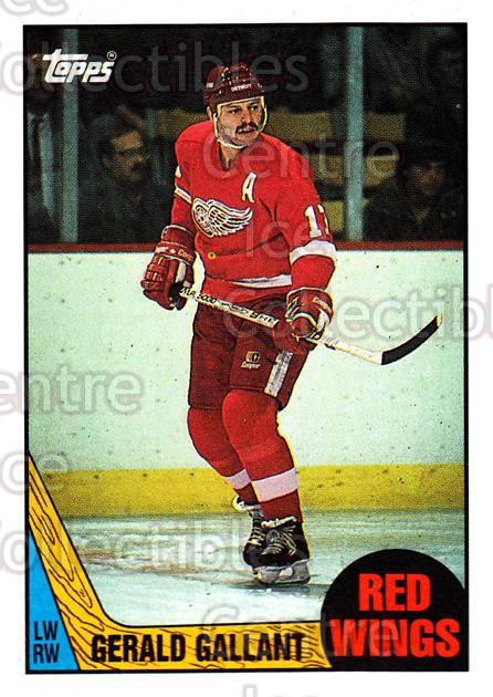 1987-88 Topps #67 Gerard Gallant<br/>6 In Stock - $1.00 each - <a href=https://centericecollectibles.foxycart.com/cart?name=1987-88%20Topps%20%2367%20Gerard%20Gallant...&quantity_max=6&price=$1.00&code=139158 class=foxycart> Buy it now! </a>